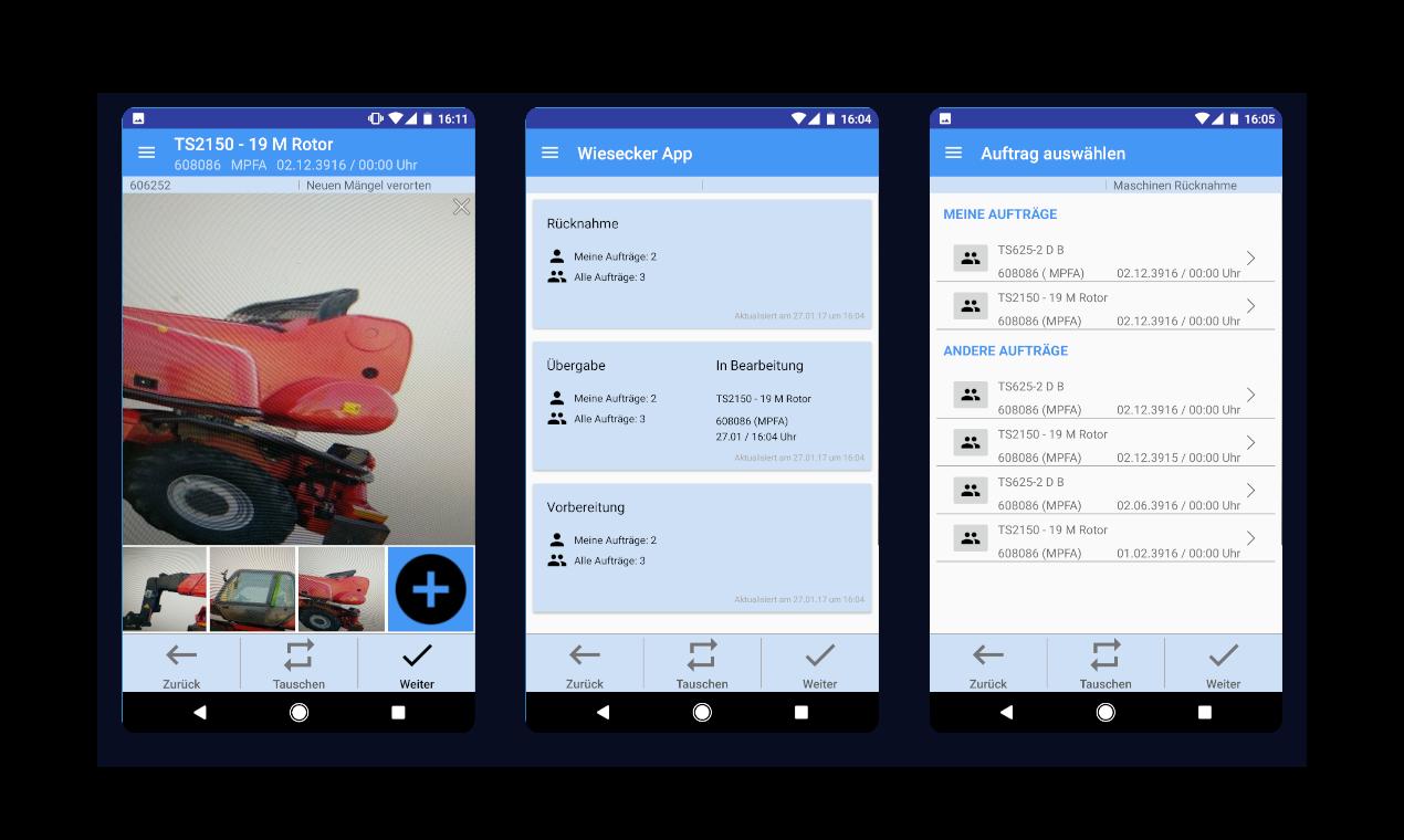 Android App zur Vermietung und Dokumentation