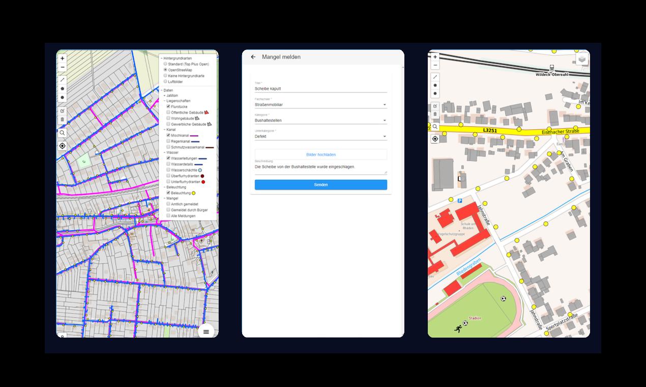 Mobile App zur behördlichen Verwaltung von Geodaten